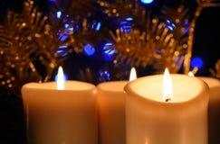 Candele di Natale Immagini Stock Libere da Diritti