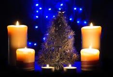 Candele di Natale Fotografie Stock