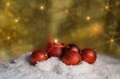 Candele di notte di Natale Immagini Stock Libere da Diritti