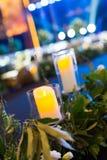 Candele di nozze Immagini Stock Libere da Diritti