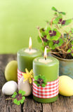 Candele di Pasqua Fotografia Stock