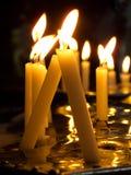 Candele di preghiera Fotografia Stock Libera da Diritti
