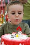 Candele di salto di compleanno Fotografia Stock Libera da Diritti