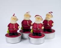 Candele di Santa di Natale Fotografia Stock Libera da Diritti