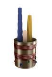 Candele e candeliere Illustrazione Vettoriale