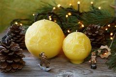 candele fatte a mano sferiche Fotografie Stock Libere da Diritti