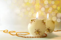 Candele festive Fotografie Stock