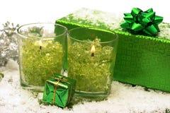Candele festive di nuovo-anno fotografia stock