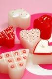 Candele a forma di del cuore Immagine Stock