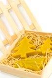 Candele gialle Handmade di natale Fotografie Stock Libere da Diritti