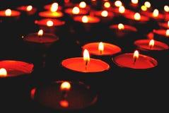 Candele nel rosso Fotografia Stock Libera da Diritti
