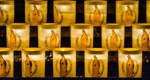 Candele nella cattedrale di Notre Dame de Paris Fotografia Stock Libera da Diritti
