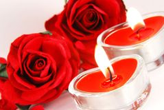 Candele romantiche Fotografia Stock Libera da Diritti