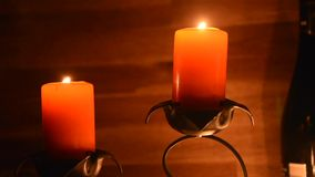 Candele rosse stock footage