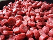 Candele rosse Immagini Stock