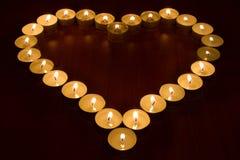 Candele sotto forma di cuore Fotografia Stock