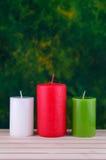 candele sul legno Immagini Stock Libere da Diritti