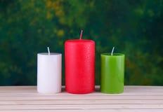 candele sul legno Immagine Stock Libera da Diritti