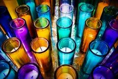 Candele in una cattedrale Fotografia Stock Libera da Diritti