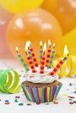Candele variopinte di compleanno Immagine Stock