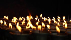Candele - vista vicina stock footage