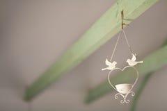 Candelero con las palomas Fotografía de archivo