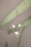 Candelero con las palomas Imágenes de archivo libres de regalías