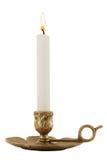 Candelero de cobre amarillo Imagen de archivo libre de regalías