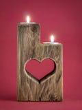 Candelero romántico Foto de archivo libre de regalías