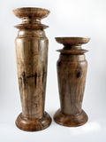 Candeleros de madera Imagen de archivo