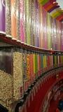 Candelicious sklep dekoruje cukierki Zdjęcia Stock