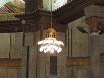 Candeliere che appende la moschea interna di Al-Aqsa, Gerusalemme Immagini Stock Libere da Diritti