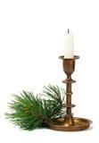 Candeliere con la candela Fotografia Stock