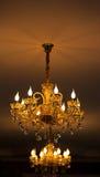 Candeliere con le lampadine incluse Fotografia Stock Libera da Diritti