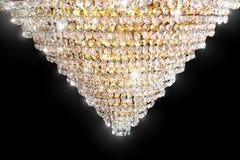Candeliere a cristallo brillante del triangolo fotografia stock