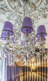 Candeliere a cristallo con ombra Fotografie Stock Libere da Diritti