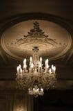 Candeliere a cristallo d'annata Immagine Stock