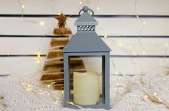 Candeliere d'argento di Natale Fotografie Stock