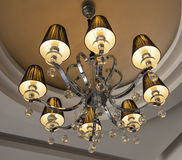 Candeliere decorato della plafoniera Fotografia Stock