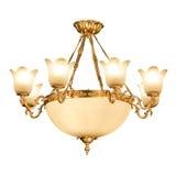 Candeliere dell'annata isolato su bianco Immagine Stock