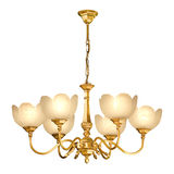 Candeliere dell'annata isolato su bianco Fotografie Stock