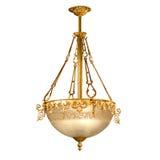 Candeliere dell'annata isolato su bianco Fotografia Stock Libera da Diritti