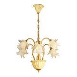 Candeliere dell'annata isolato su bianco Fotografia Stock