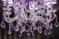 Candeliere dell'a cristallo di fascino Immagini Stock Libere da Diritti