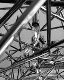 Candeliere di arte moderna - BnW immagine stock