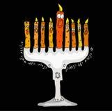Candeliere di Hanukkah Immagini Stock