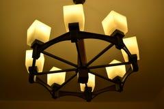 Candeliere di legno Fotografia Stock