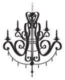 Candeliere di Rich Baroque Classic royalty illustrazione gratis
