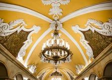 Candeliere in metropolitana di Mosca Fotografia Stock