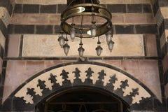Candeliere nella moschea di Tahtani, Gaziantep Fotografie Stock Libere da Diritti